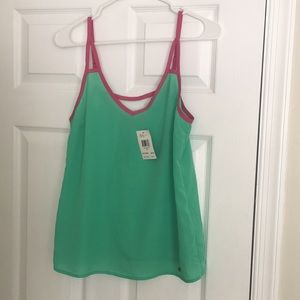 Pink and green Guess tank
